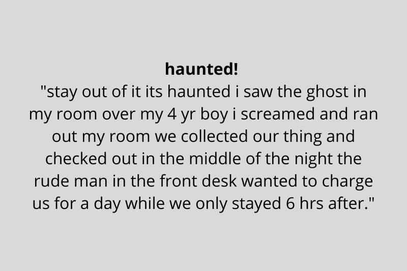 story about a haunted hotel room