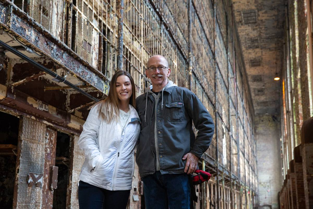 people photographed at rusted Ohio State Reformatory