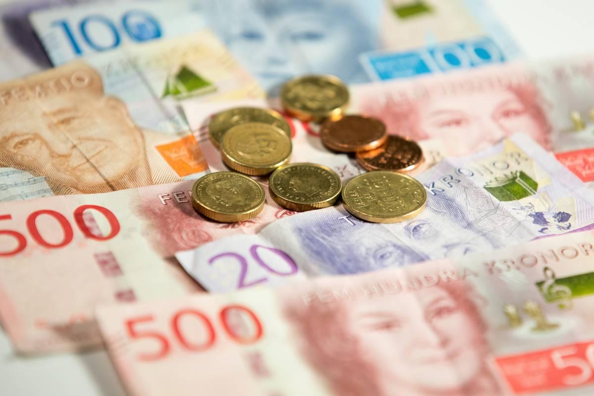 swedish krona cash free society