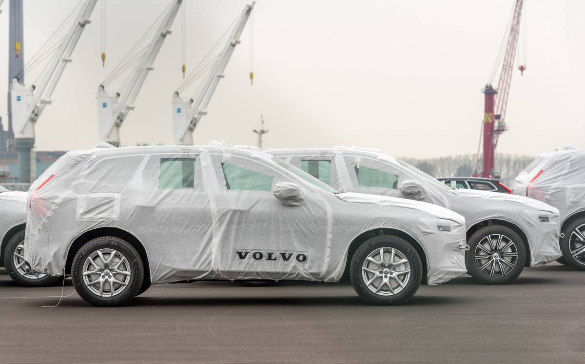 new volvos at plant