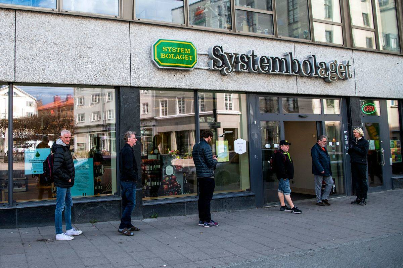 people in line in sweden