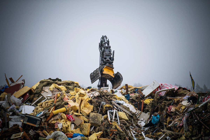 swedish recycling center in eskilstuna
