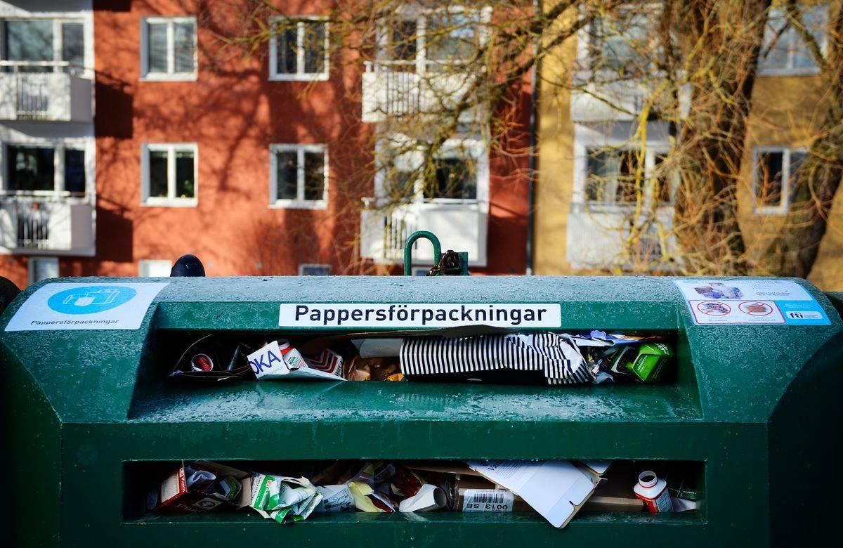 recycling paper bin stockholm