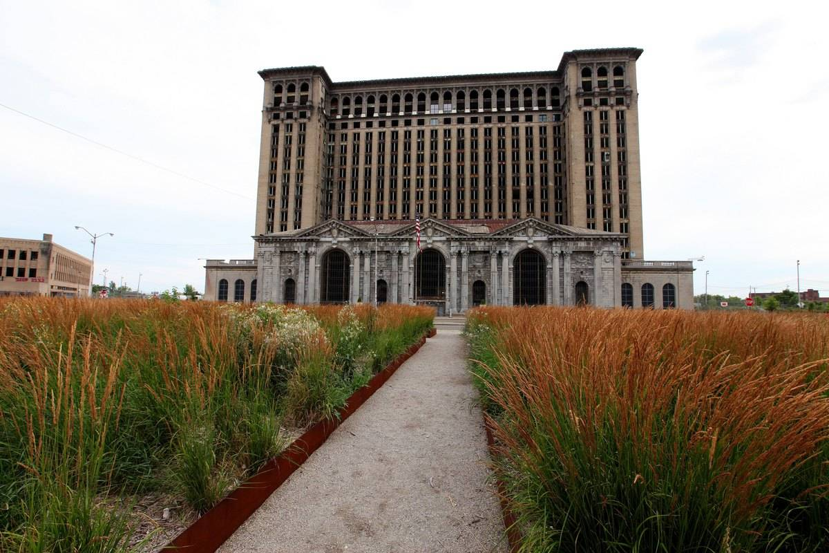The abandoned Michigan Central Station on July 18, 2014 in Detroit, Michigan.