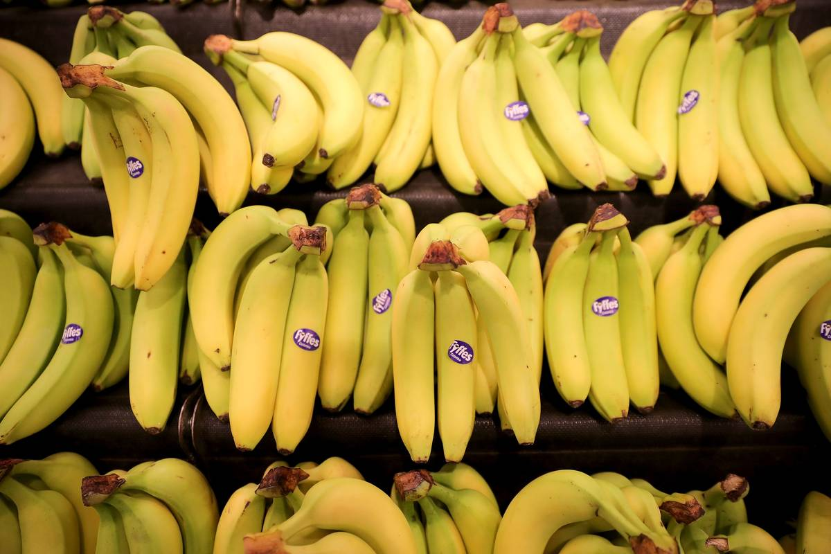 bananas are seen for sale