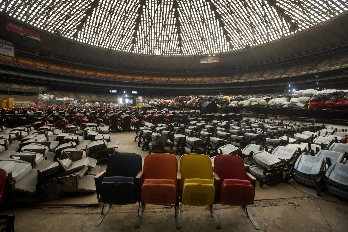 interior of the Houston Astrodome in Houston, TX is pictured on Feb. 2, 2017. The stadium, once called the
