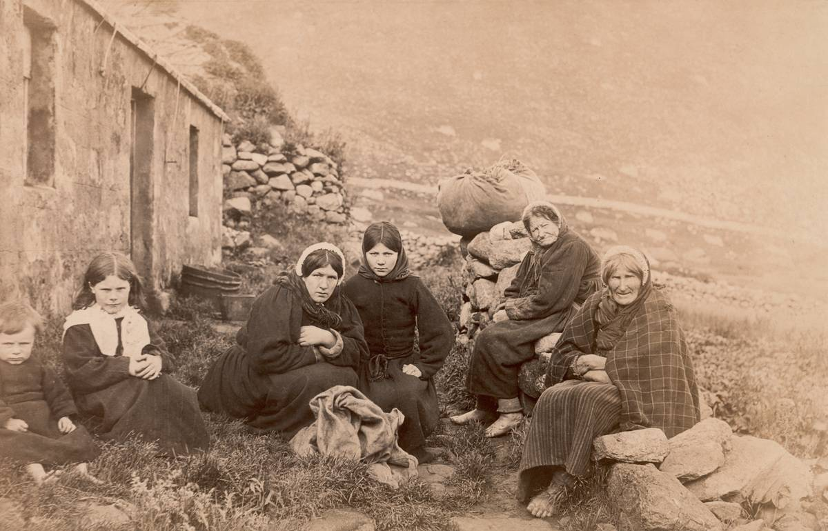 Three generations of women on the archipelago of St Kilda in the Outer Hebrides, Scotland, circa 1880