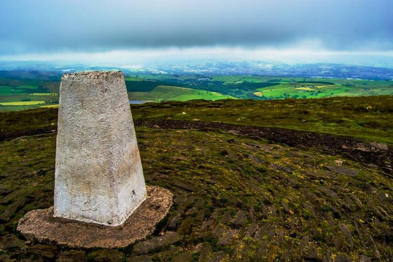 the view from the top of Pendle Hill