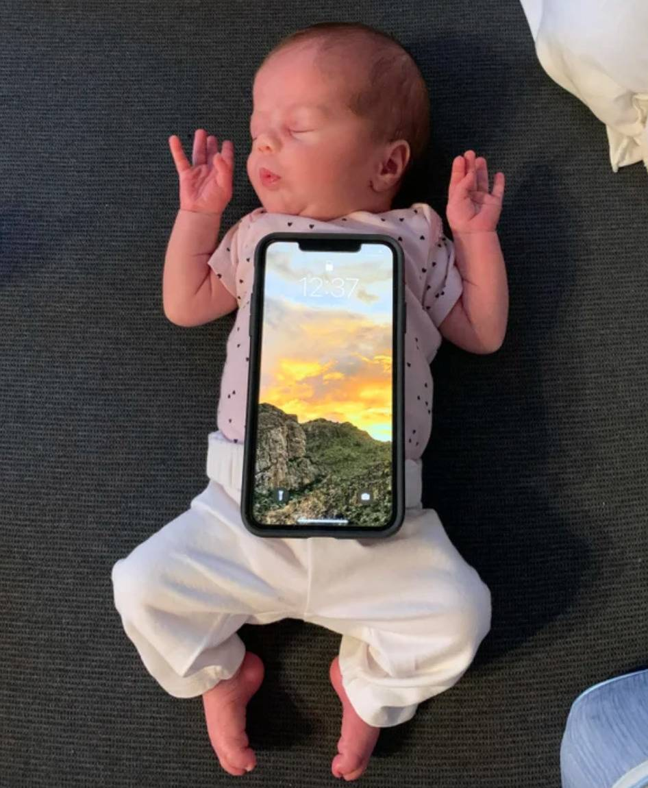 iphone on child is the size of its whole torso
