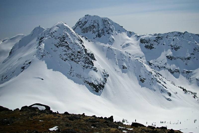Snow-capped mountain peak