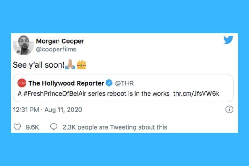 tweet about reboot