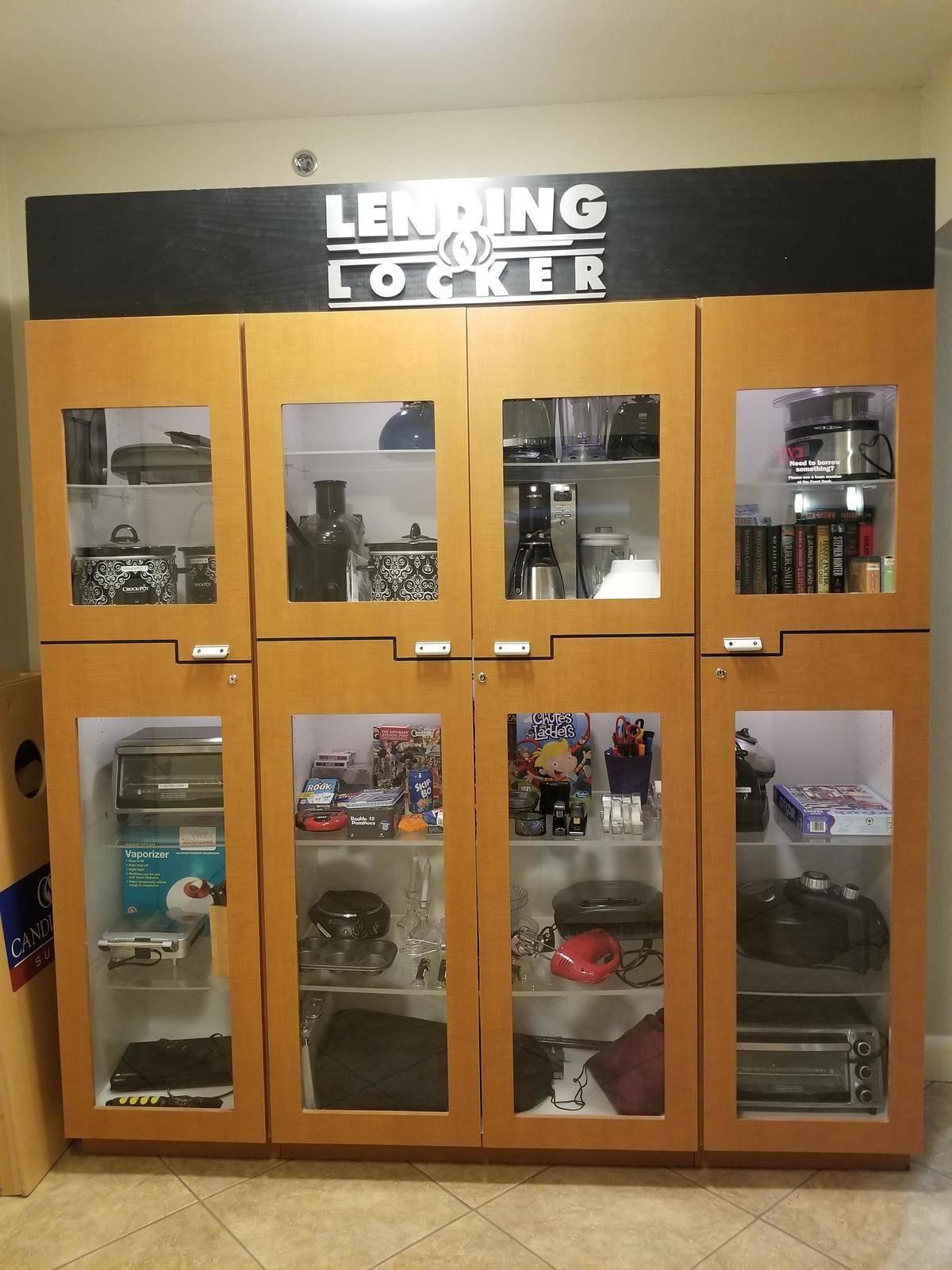 lending locker at a hotel
