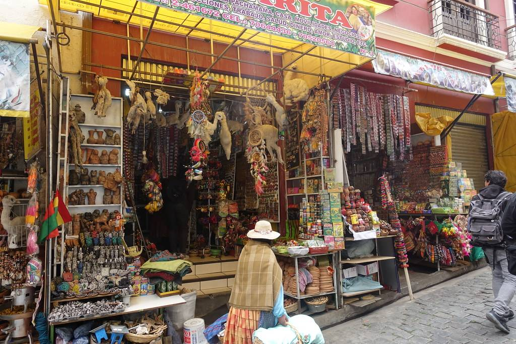 a picture of the Witch's Market in Bolivia