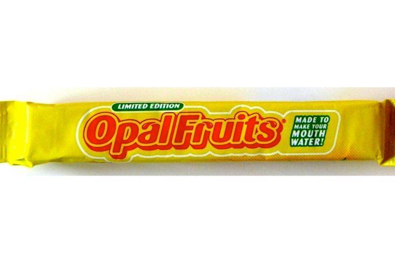 starbursts are called Opal Fruits in the UK
