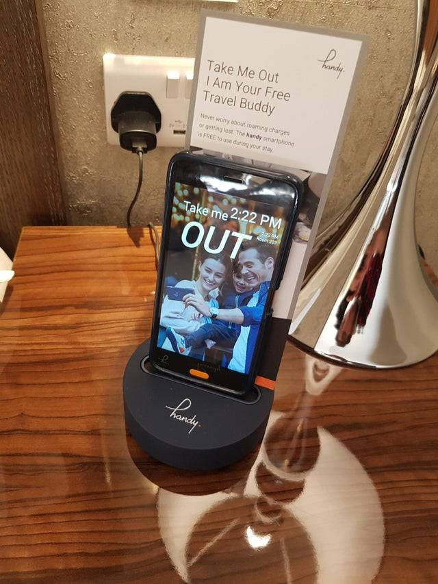 hotel gives phones to people so they don't have to use their own data