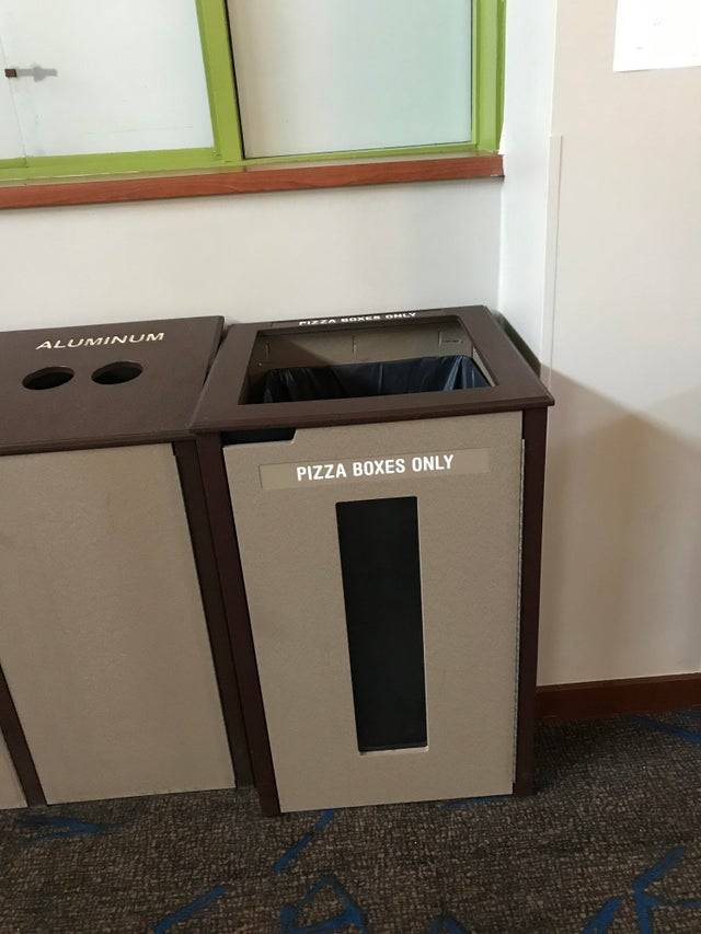pizza garbage can