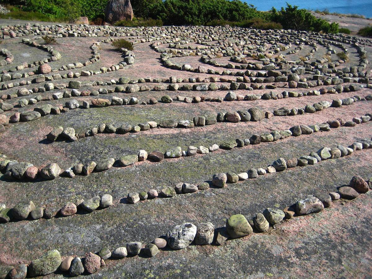 Labyrinth on an island in Sweden