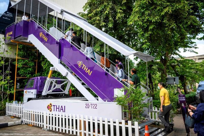 thai airways restaurant entrance in bangkok