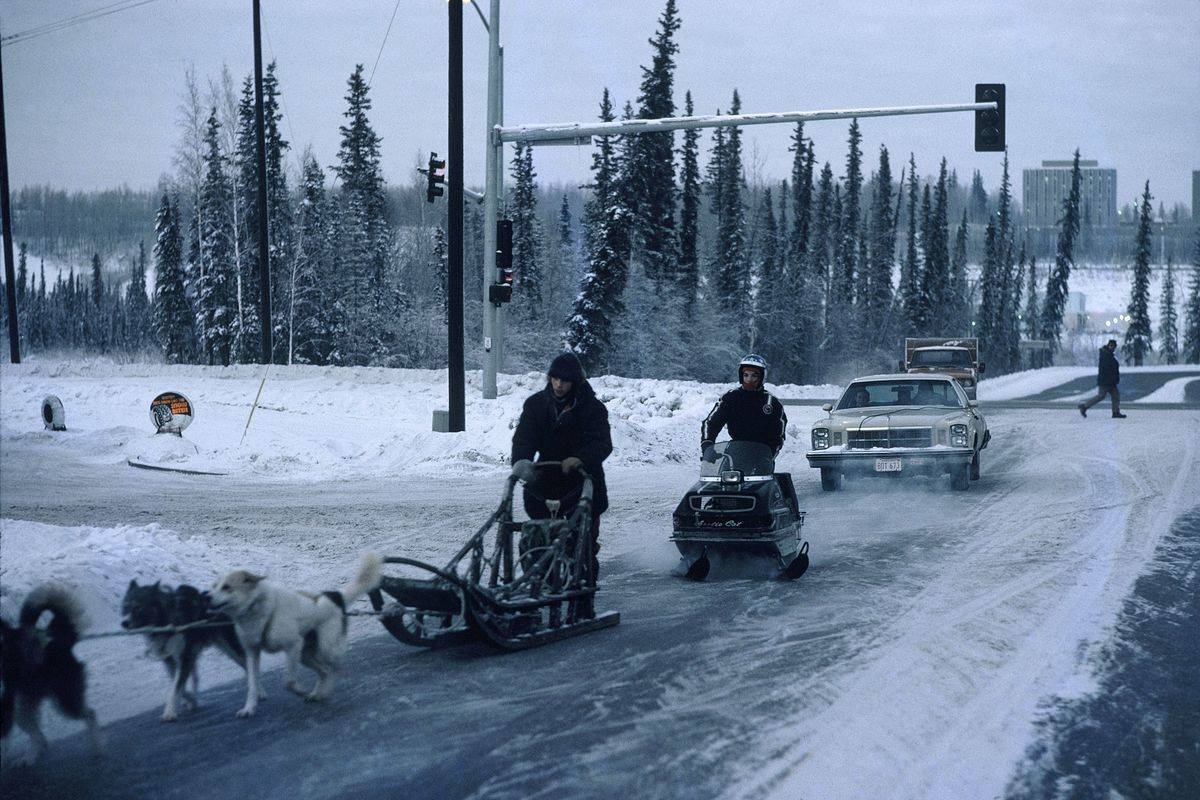 The Cold In Fairbanks In Alaska, United States -