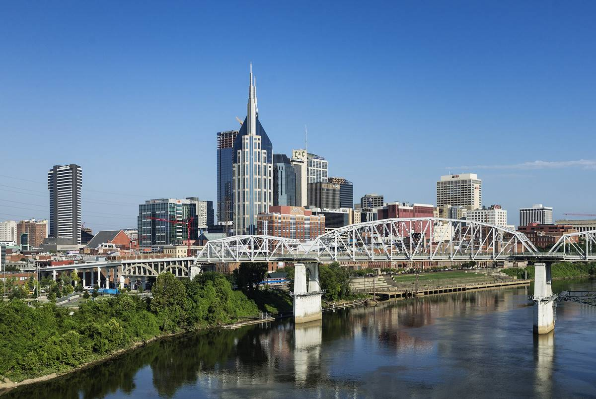 Nashville city skyline...
