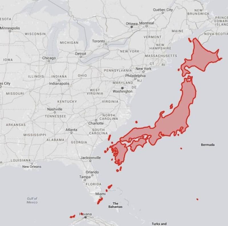 Japan Size Might Surprise You