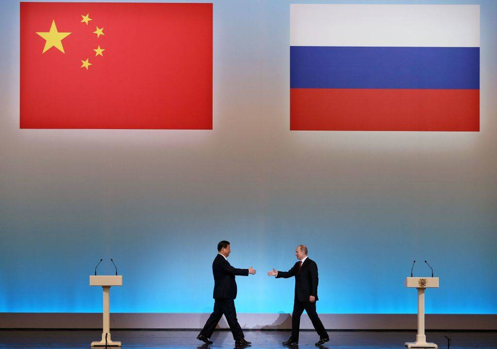 Picture of China and Russia leaders