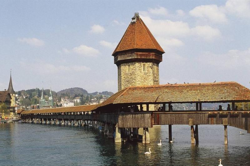 Kapellbrücke Is The Oldest Wood-Covered  Bridge In Europe