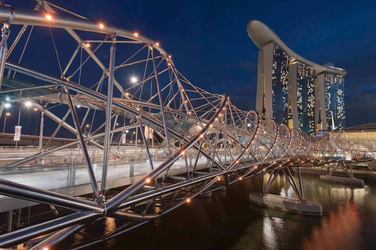 The Helix Bridge Resembles A Strand Of DNA