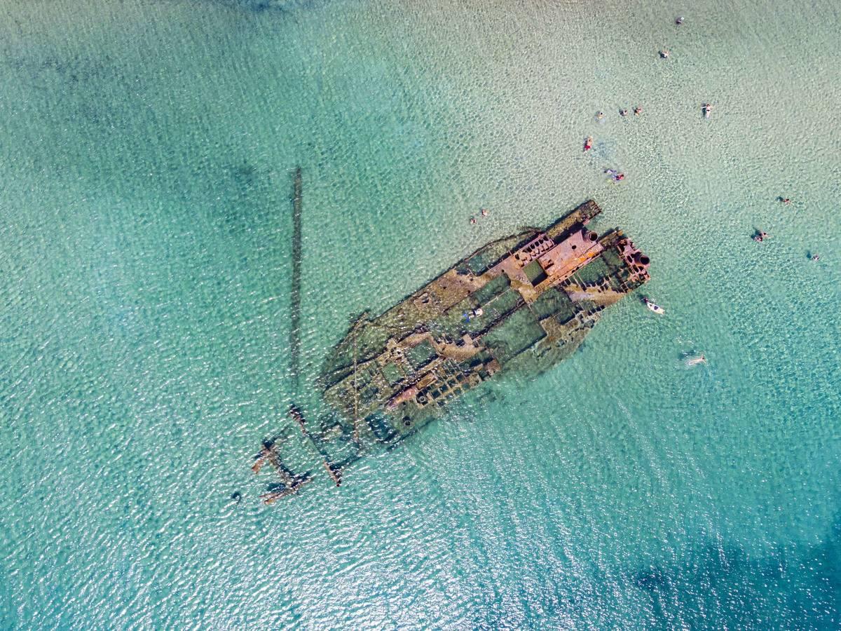 A Shipwreck Off The Coast Of Greece's Epanomi Beach
