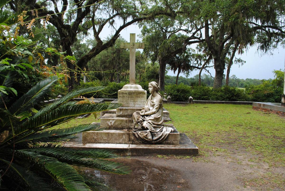 The famous Bonaventure Cemetery, Savannah, Georgia on a stormy day.