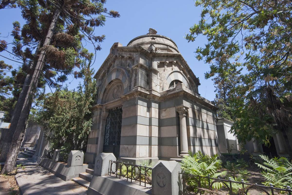 Pictured is the Mausoleum in the General cemetery.
