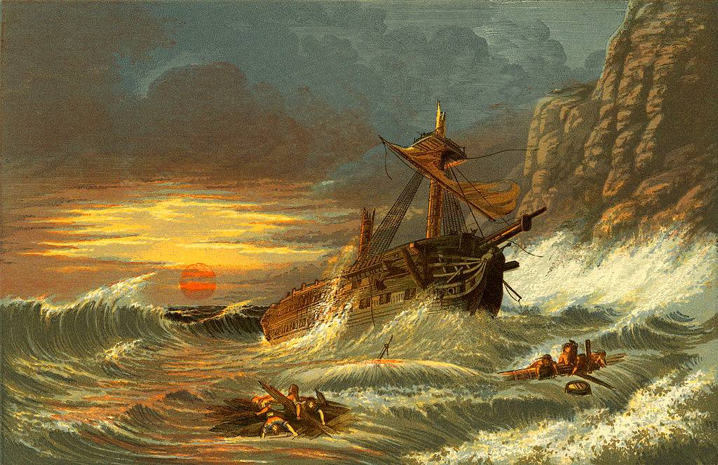Painting of a shipwreck