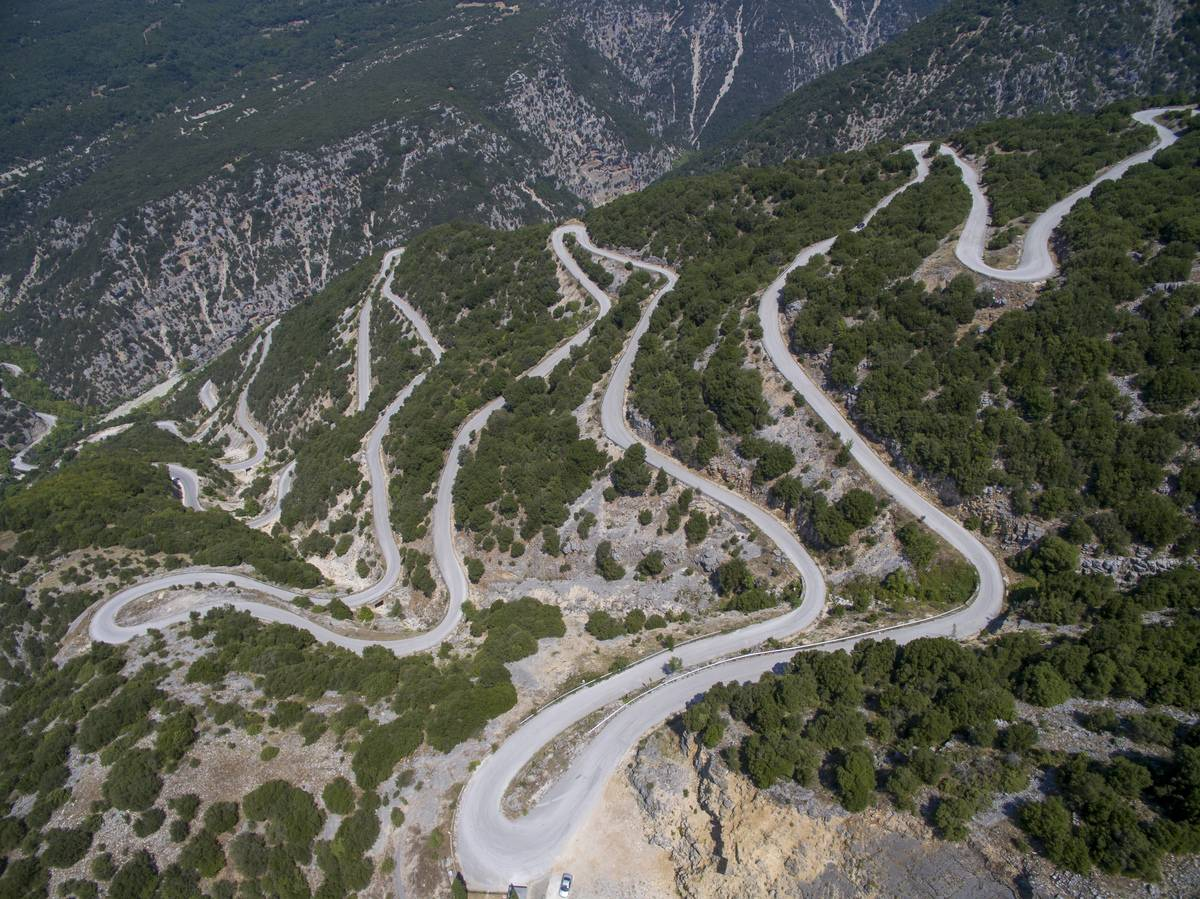 The National Park Of Tzoumerka's Winding Road