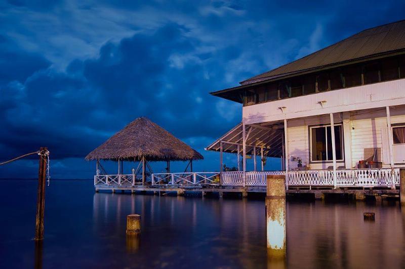 bocas del toro, panama building by the water