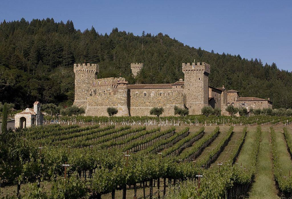 Castello di Amorosa, a replica of a medieval Tuscan castle, is seen in this 2009 Calistoga, California, late spring photo