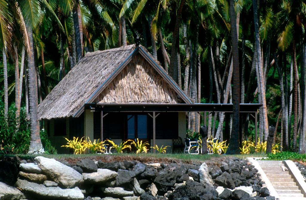 Bungalow in coconut plantation on private island Laucala Fiji