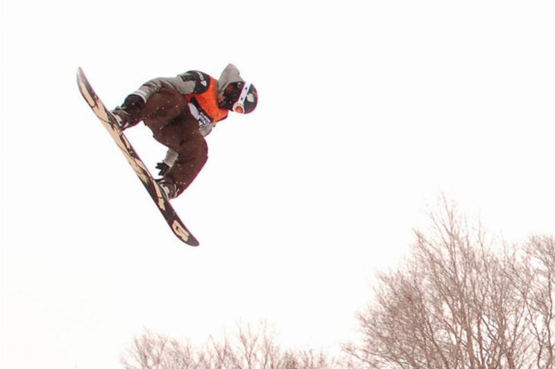 Shaun White snowboarding in Stratton, Vermont