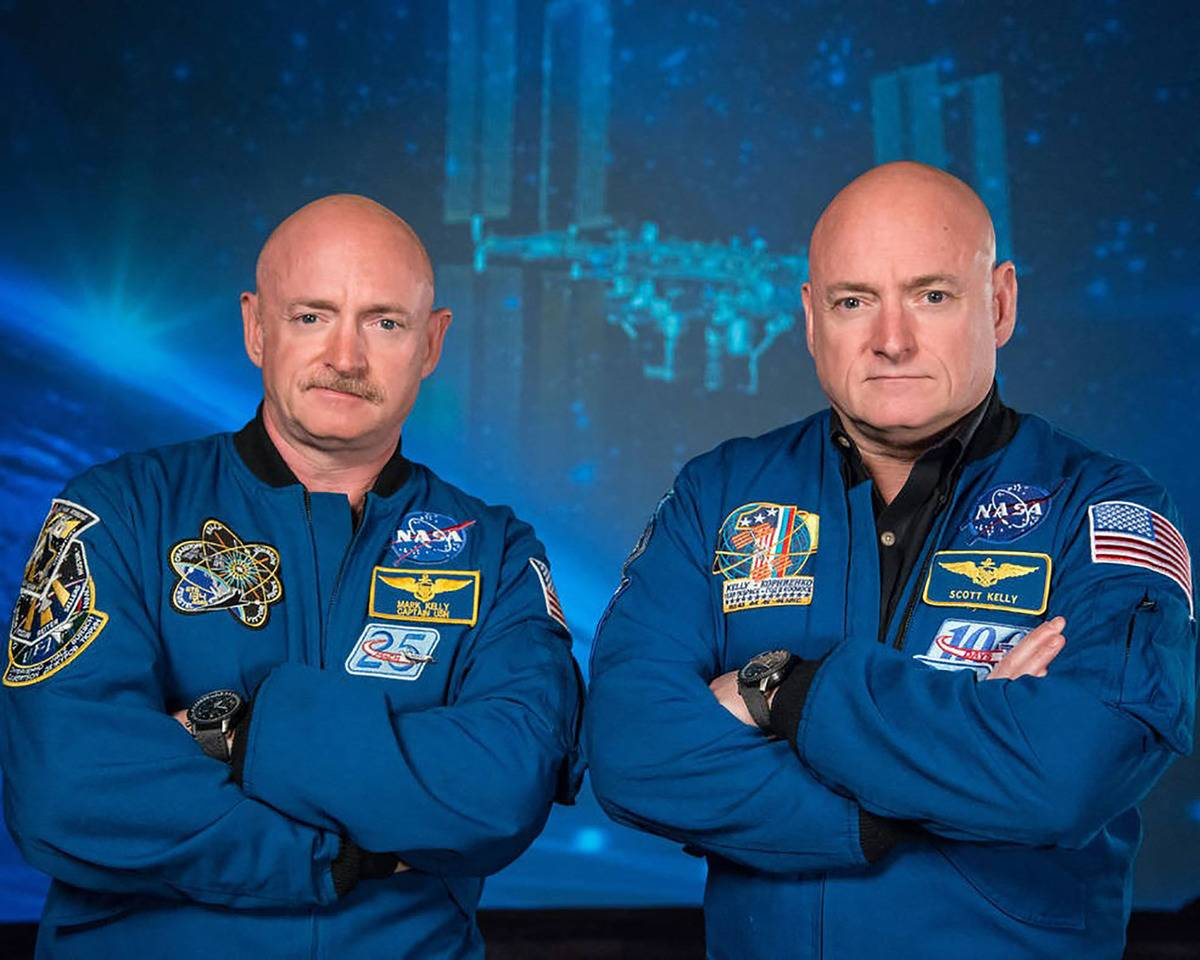 Two twin brothers, Scott and Mark Kelly, are twin astronauts.