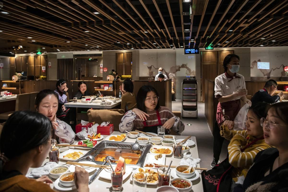 Inside A Haidilao Hot Pot Restaurant Ahead of CPI Figures