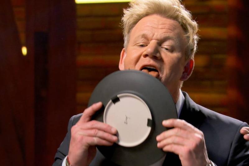 Gordon Ramsey licking a plate