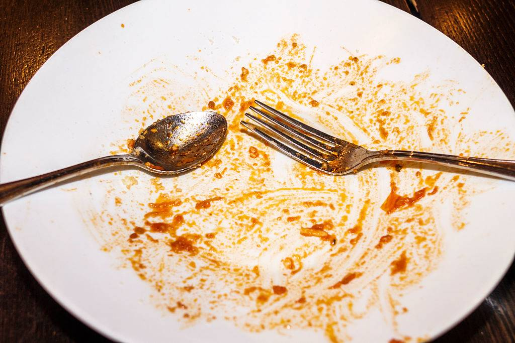 a plate that has been cleared of food