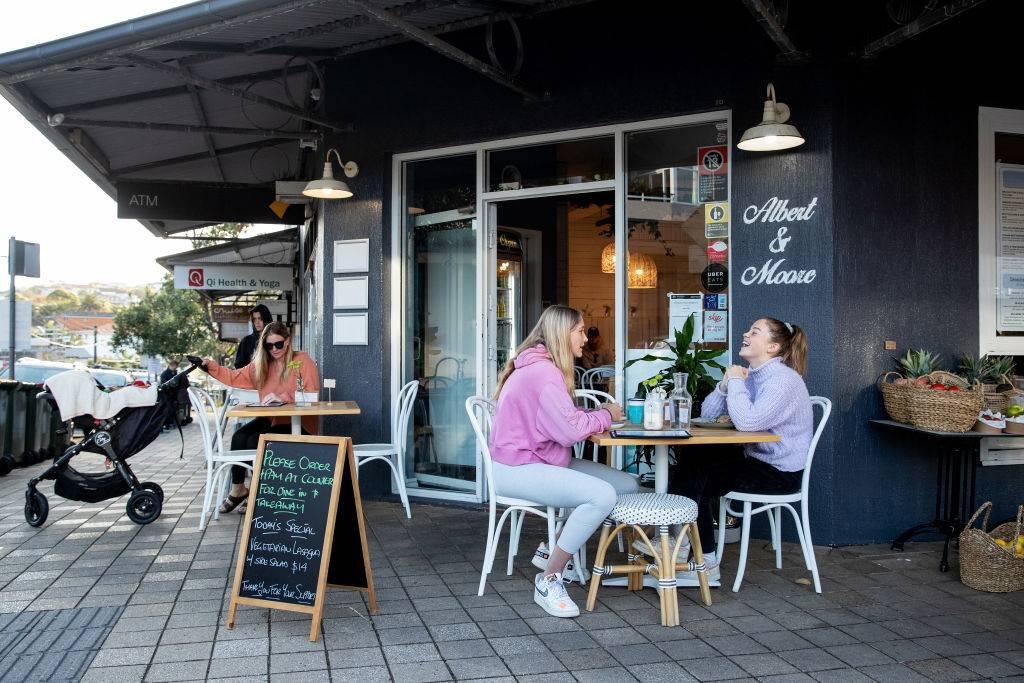 people eating outside in australia