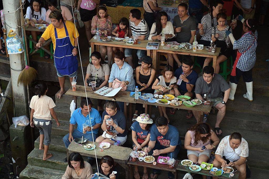people eating in Thailand